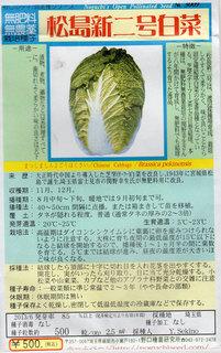 松島新二号白菜