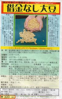 借金なし大豆
